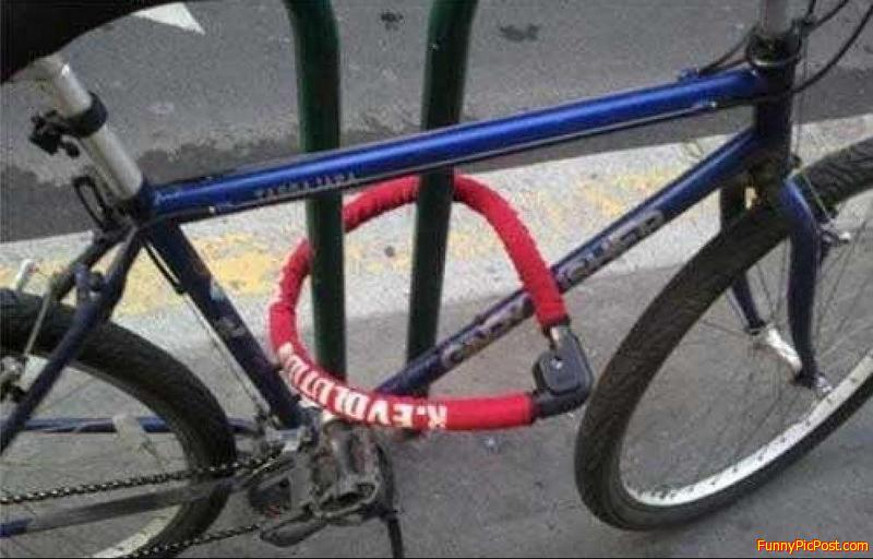 Dang, bike rack can't be stolen...