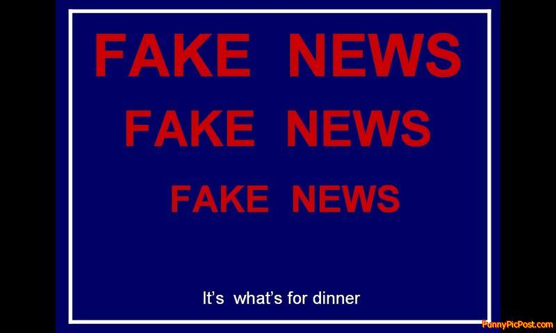 Fake News - It's what's for dinner