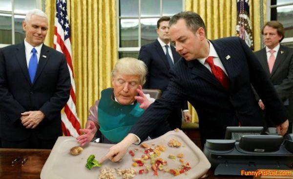 Little Trumpy Eats His Greens