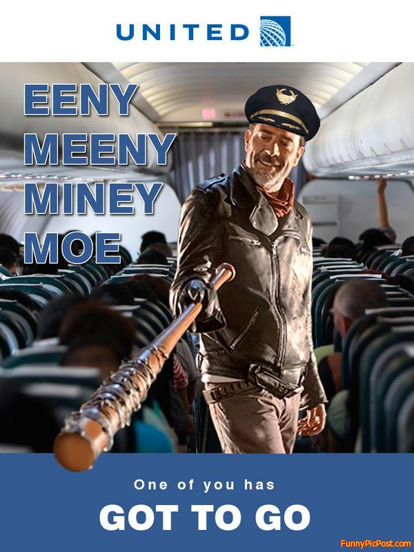 Negan on United Airlines