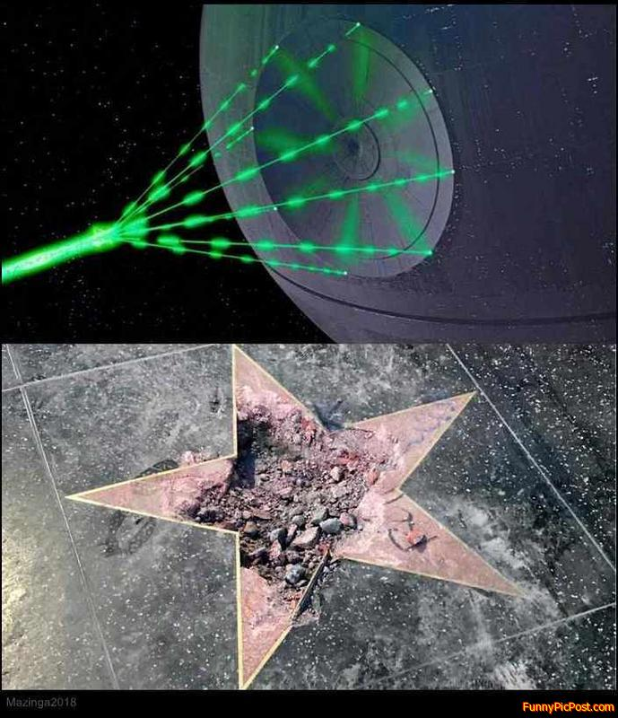 "Death + Star = ""Death Star"" lol XD"